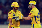Chennai Super Kings won the toss and elected to bat first in the first play-off in New Delhi today.