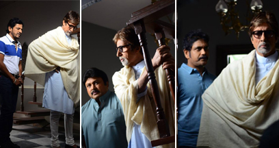 amitabh bachchan recently completed an ad shoot for a jewellery