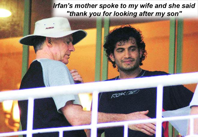Irfan Pathan, Greg Chappell, India cricket