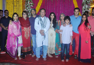 Salman Khan with family at Ganesh Chaturthi celebrations