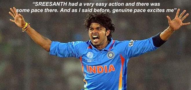 S Sreesanth, Greg Chappell, India, Cricket